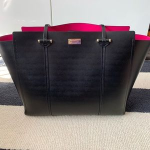 Kate Spade black tote with pink lining!